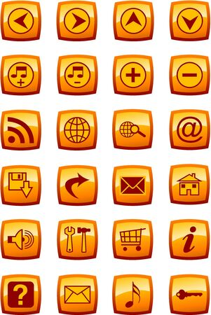 Vector illustration of glossy multimedia icon set Stock Illustration - 4394584