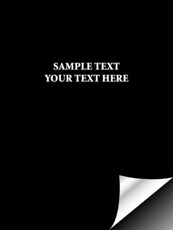 Black paper with realistic page curl. Copy space for image or text Stock Photo - 4394295