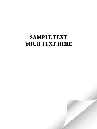 White paper with realistic page curl. Copy space for image or text Stock Photo - 4394292
