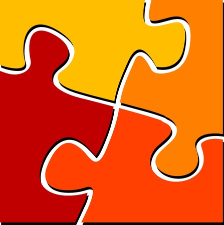 unification: Vector illustration of puzzle pieces