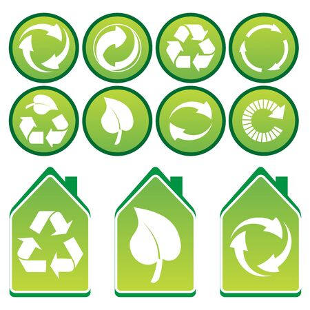 Vector set of environmental / recycling icons Stock Photo - 4394674