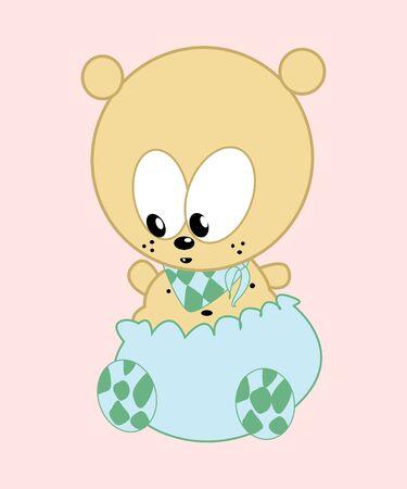 Cute baby bear vector illustration illustration