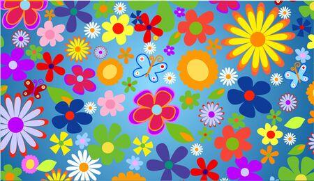 Spring flowers background vector illustration Stock Illustration - 4394621
