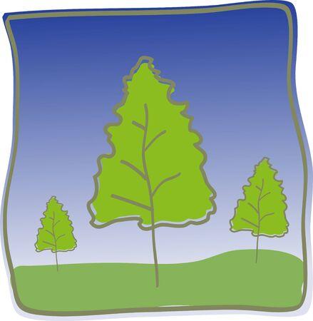 Abstract Trees vector illustration illustration