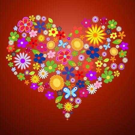 spring flower valentine vector illustration Stock Illustration - 4394701