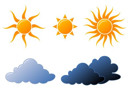 Weather icons fully editable vector illustration illustration