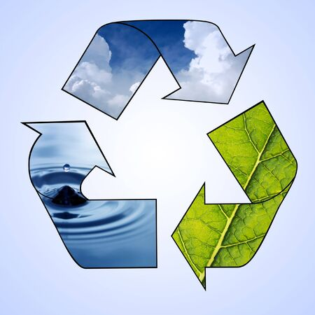 Recycle Symbol - Air, Water, Earth Stock Photo - 5659134