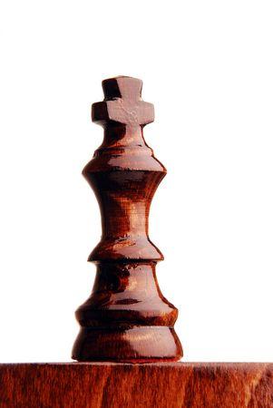 zdradę: Fragment szachista. Król staÅ'ego na biaÅ'ym tle
