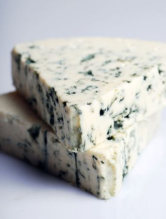 blue cheese on a white background  photo