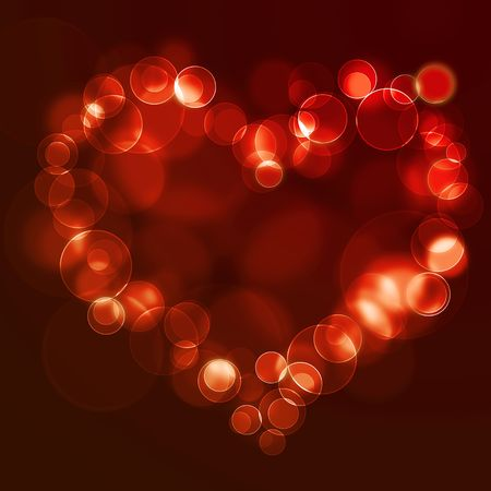 Abstract glowing lights in the shape of the heart Stock Photo - 6816083