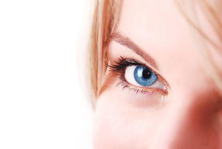 beautiful blue eye macro shot Stock Photo - 7883544