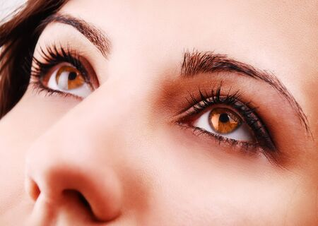 Beautiful woman eyes close-up photo