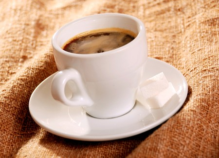 white cup of coffee Stock Photo - 7883961