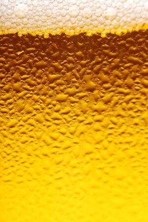 brew beer: Primer plano de textura de vidrio dewy de cerveza fresca
