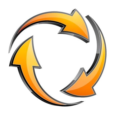 Arrow 3d icon  Vector
