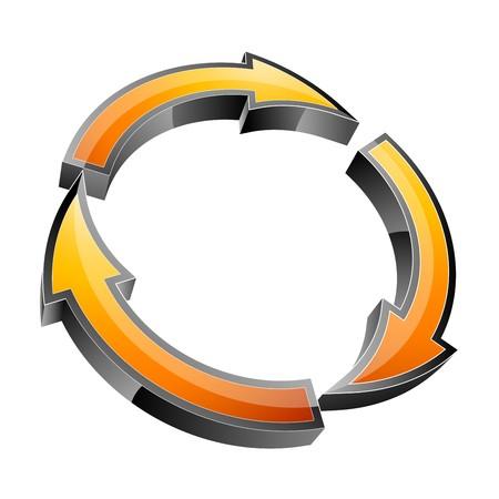 Arrow 3d icon   Stock Vector - 7884083