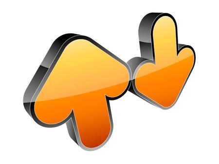 Arrow 3d icon Stock Vector - 7883957