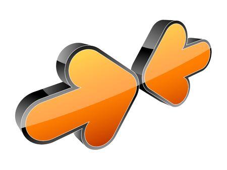 Arrow 3d icon illustration Stock Vector - 7883959