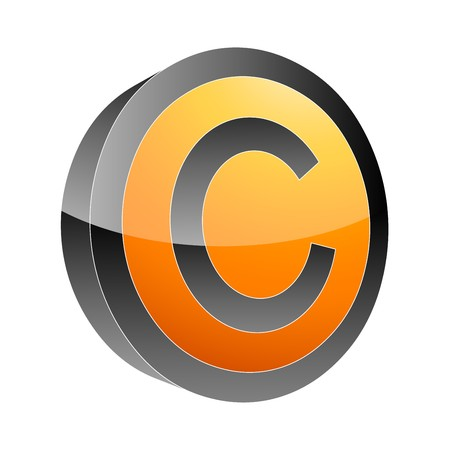 letter C 3d icon Stock Vector - 7884061