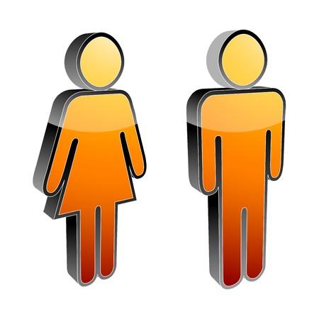 simbolo hombre mujer: iconos hombres y mujeres