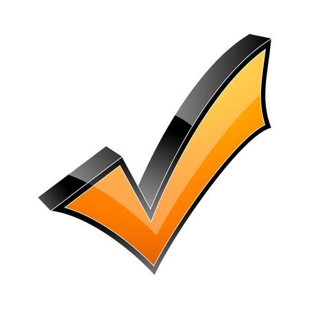 3d check mark icon Stock Vector - 7884044
