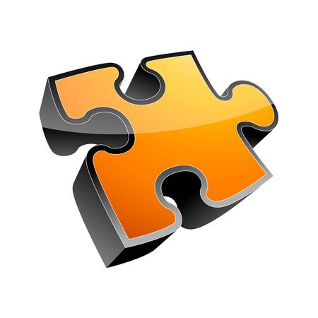 3d puzzle  icon  Stock Vector - 7884116