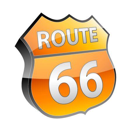 66: Route 66 3d icon