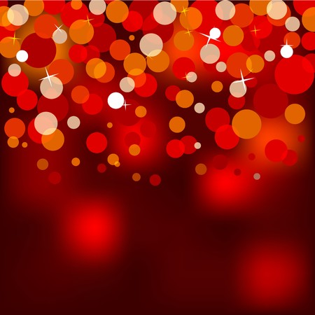 illustration of red christmas lights