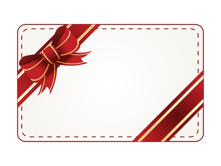 gift tag on white background Illustration