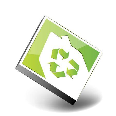 Eco house icon Stock Vector - 7884154