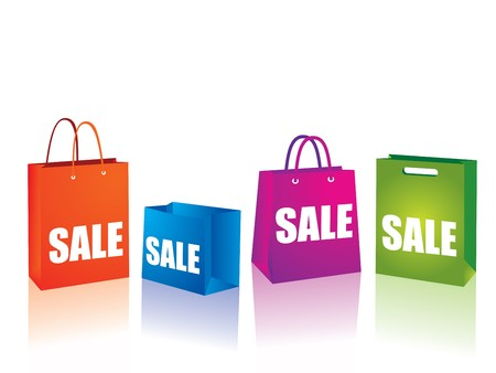 mall signs: Sale shopping bags illustration