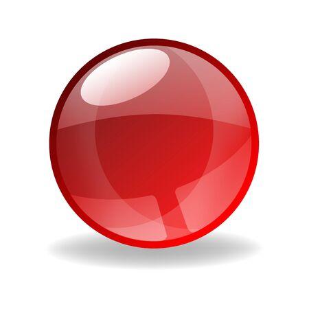 red sphere: sfera rossa 3D