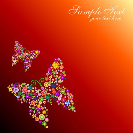 two colourful butterflies Vector