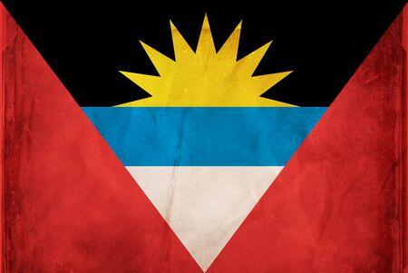 antigua flag: Grunge flag series -  Antigua & Barbuda Stock Photo
