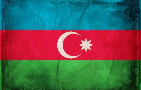 Grunge flag series -  Azerbaijan photo