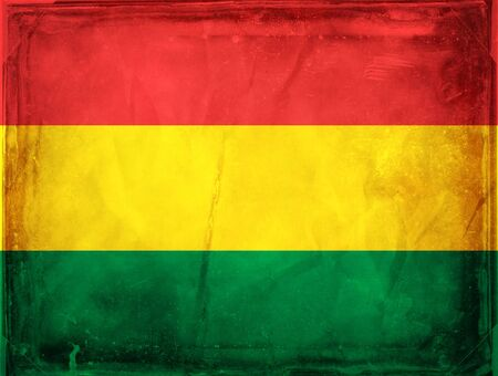 Grunge flag series -  Bolivia Stock Photo - 7977798