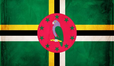 dominica: Grunge flag series -  Dominica