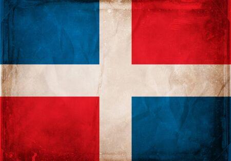 reps: Serie de bandera de grunge - Rep Dominicana