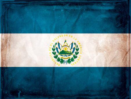 el salvador: Grunge flag series -  El Salvador