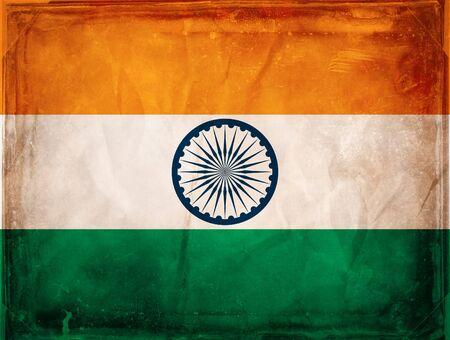 Grunge flag series -  India photo