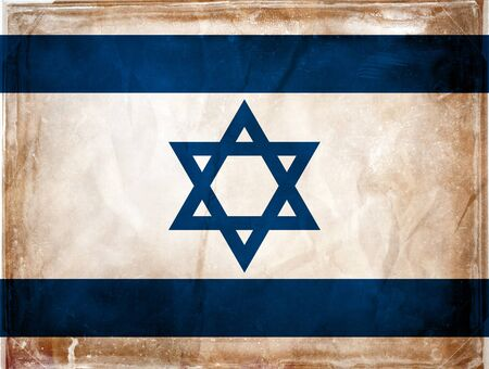 Grunge flag series -  Israel Stock Photo - 7977830
