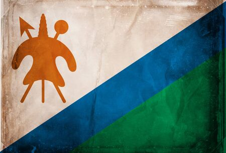 lesotho: Grunge flag series -  Lesotho Stock Photo