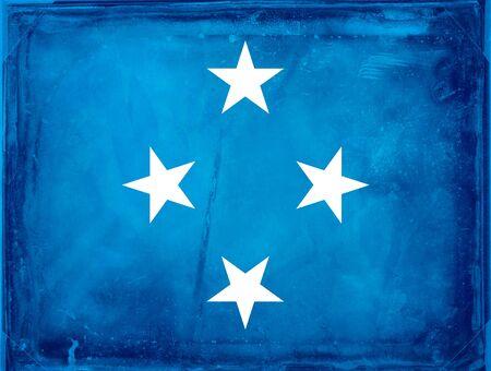 micronesia: Grunge flag series -  Micronesia