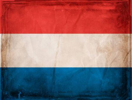 Grunge flag series -  Netherlands photo