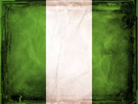 nigeria: Grunge flag series -  Nigeria