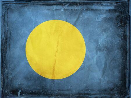 palau: Grunge flag series -  Palau