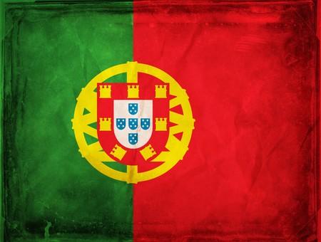 Grunge flag series -  Portugal Stock Photo - 7977790