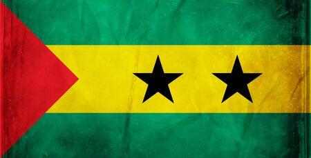 principe: Serie de la bandera del grunge - Santo Tom� & principe