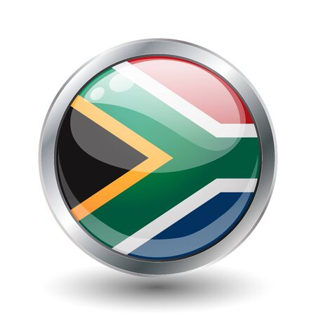 South African shiny button flag   photo