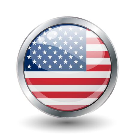 USA shiny button flag  Stock Photo - 7977750